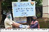 Distribution of slippers to the poor and needy people during COVID-19 lockdown by Western Sector HQR, CRPF, Navi Mumbai