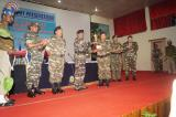 SH.K.VIJAY KUMAR , IGP M&N SECTOR PRESENTING BEST ADMINISTERED BATTALION TROPHY TO SH. K.NOGEN SINGH ,2 I/C(OPS), OFFICIATING COMMANDANT, 69 BN.