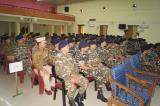 OFFICERS AND MEN WITNESSING THE FELICITATION CEREMONY.