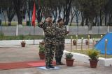 SH.K.DURGA PRASAD,IPS, DGP, CRPF TAKING SALUTE AT THE QUARTER GUARD OF GC CRPF , IMPHAL