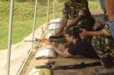 Bollywood actor Sushant Singh Rajput firing with INSAS Rifle at firing range Chilchil