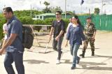 "Bollywood actor- Sushant Singh Rajput and Smt- Afshan Anjum senior news Editor and Anchor of NDTV arrive at TULIHAL airport IMPHAL on 5th June 2017 for the shooting of ""Jai Jawan"""
