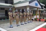 Ceremonial guard presenting general salute to Shri. Vikram Sahgal, IGP. M&N sector.