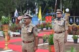 Shri. Vikram Sahgal, IGP. M&N sector taking salute on independence day celebration.