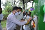 Dr. Gaurav Saini, SDM, Mount Abu Switching on the Machine after religious rituals.