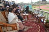 THE CHIEF GUEST ,THE GUEST OF HONOUR AND MOTHER OF SHAHEED MANORANJAN SINGH ENJOYING THE FINAL MATCH