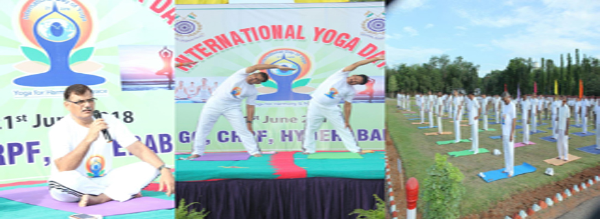 INTERNATIONAL YOGA DAY 21ST JUNE AT GC CRPF HYDEABAD