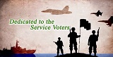A short film on service voter registration...