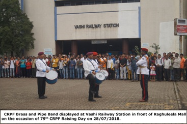 Display of CRPF Band